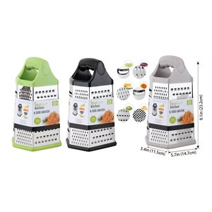 IDEAL KITCHEN STAINLESS STEEL GRATER 9IN 6 SIDES