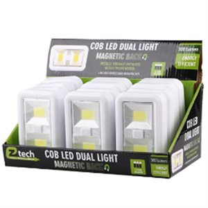 COB LED Light Dual w / battery