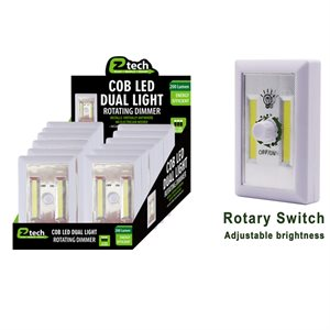 COB LED Switch Light Rotating Dimmer