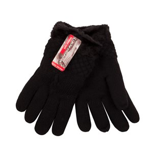 LADIES FASHION FUR LINED GLOVES