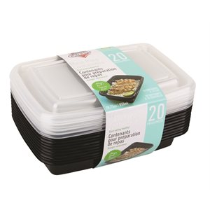 MEAL PREP CONTAINERS 20 PCS