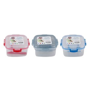 FOOD CONTAINER 4 IN 1 WITH FORK & KNIFE