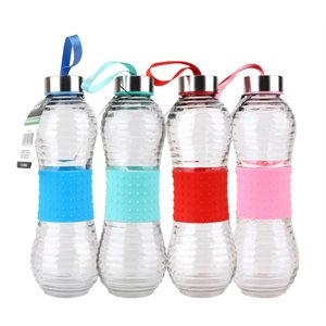 Glass Bottle 500ml Silicon Sleeve