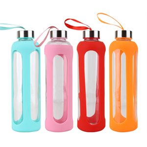 Glass Bottle 600ml Silicon Sleeve