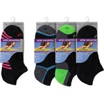 LADIES 3PR NO SHOW 1 / 2 CUSHION SPORT SOCKS BLACK