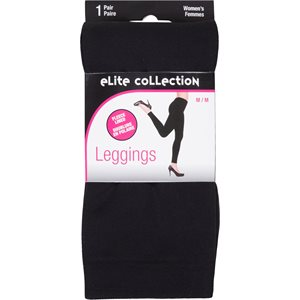 LADIES FLEECE LINED LEGGINGS BLACK