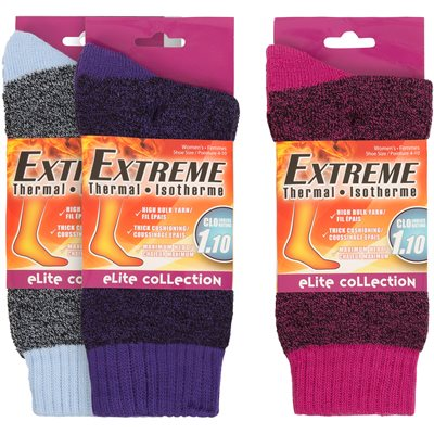 LADIES 1PR EXTREME THERMAL ASST COLORS