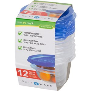 GALIWARE 12PC 120ML ROUND FOOD CONTAINER