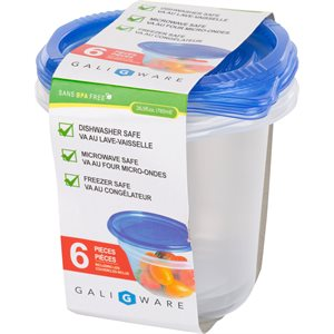GALIWARE 6PC 785ML ROUND FOOD CONTAINER