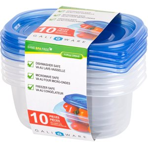 GALIWARE 10PC 280ML RECTANGLE FOOD CONTAINER