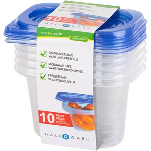 GALIWARE 10PC 450ML RECTANGLE FOOD CONTAINER