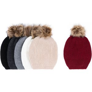 LADIES FASHIONS WINTER HAT WITH POM POM