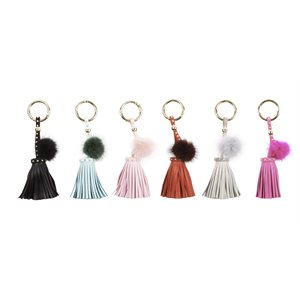 KEYCHAIN W / FUR ASST COLORS
